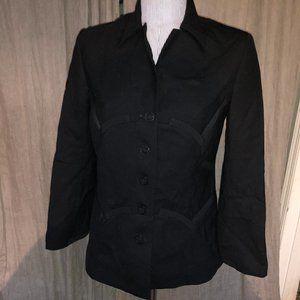 Carolina Herrera Black V detail blazer jacket 8